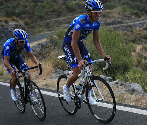 January training for Contador and Navarro