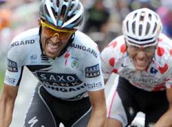 Contador and Gilbert in TDF 2011