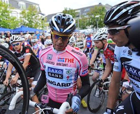 Contador at 2011 Handelsbanken criterium in Herning