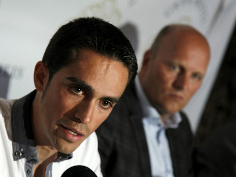 Alberto Contador at Saxo Bank training camp