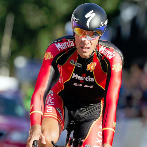 Alberto Contador finished 9th in the 2012 Valkenburg Worlds ITT