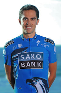 Alberto Contador of Team Saxo Bank