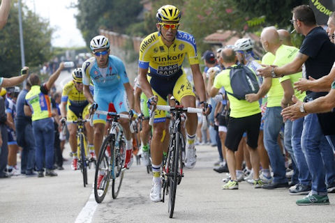 Contador and Aru make a move in Milano-Torino